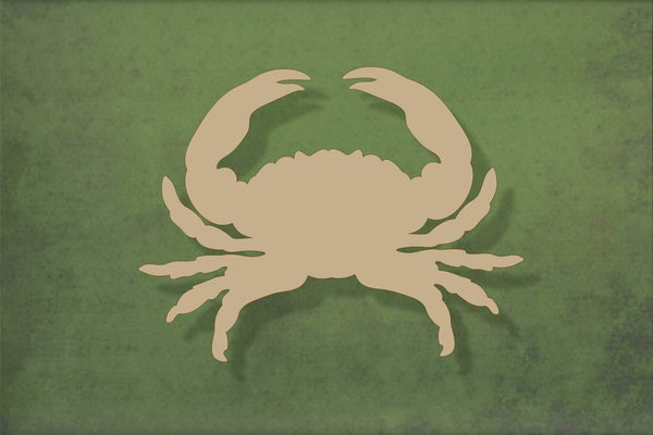 Laser cut, blank wooden Crab shape for craft