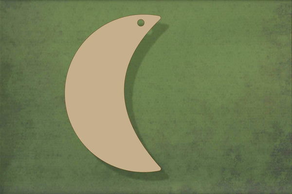 Laser cut, blank wooden Crescent moon 3 shape for craft