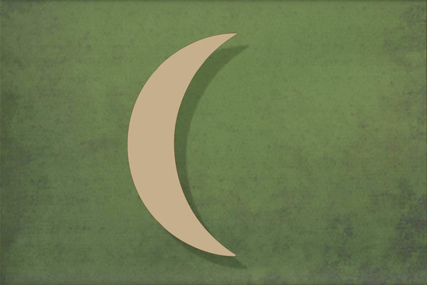 Laser cut, blank wooden Crescent moon thin shape for craft