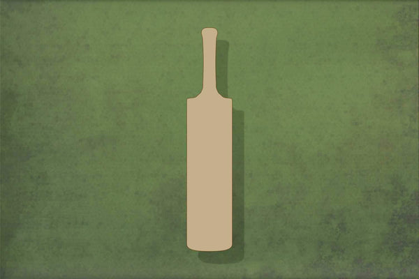 Laser cut, blank wooden Cricket bat shape for craft