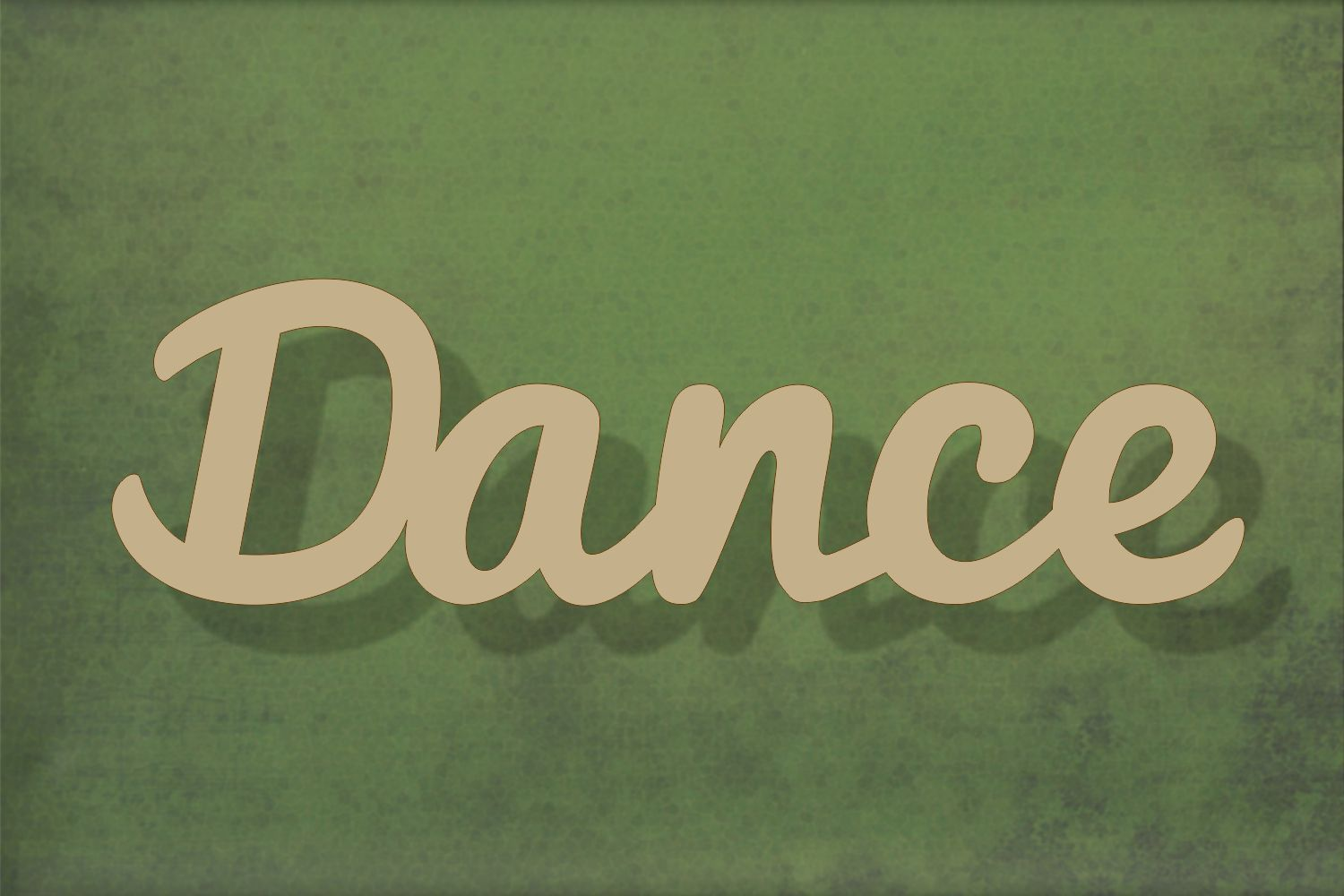 Laser cut, blank wooden Dance text shape for craft