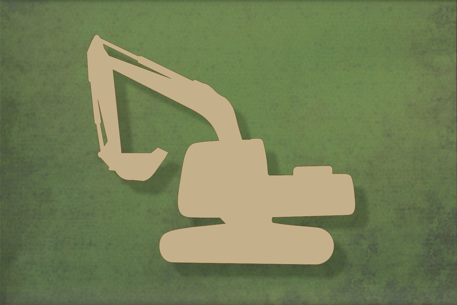 Laser cut, blank wooden Digger 2 shape for craft
