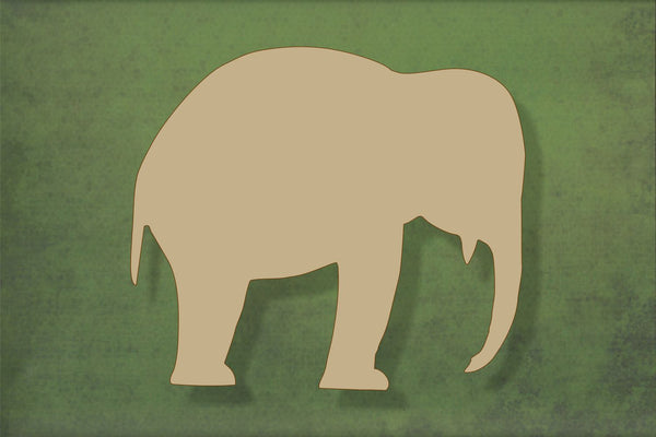 Laser cut, blank wooden Elephant 1 shape for craft