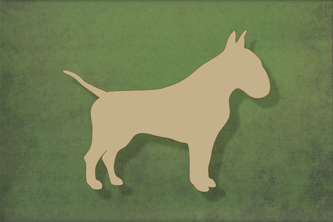 Laser cut, blank wooden English bull terrier shape for craft