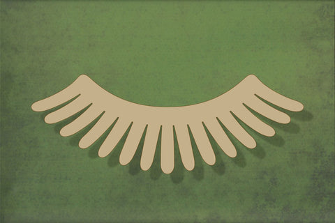 Laser cut, blank wooden eyelashes shape for craft