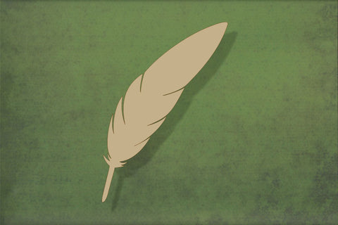 Laser cut, blank wooden Feather 1 shape for craft