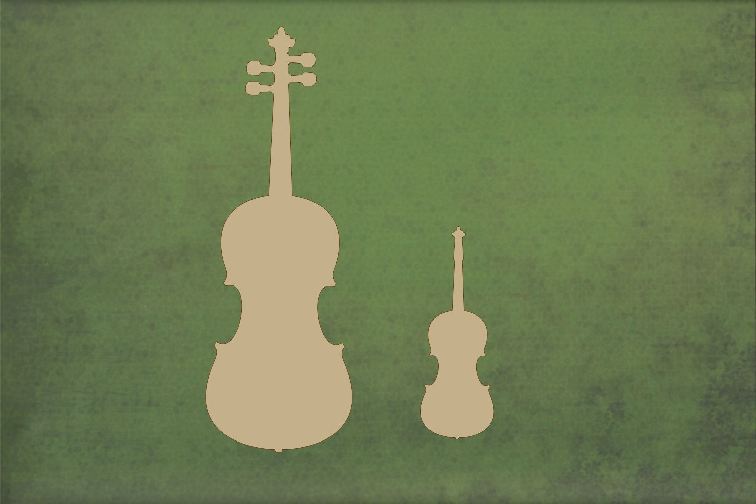 Laser cut, blank wooden Fiddle shape for craft