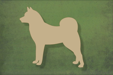 Laser cut, blank wooden Finnish Spitz shape for craft
