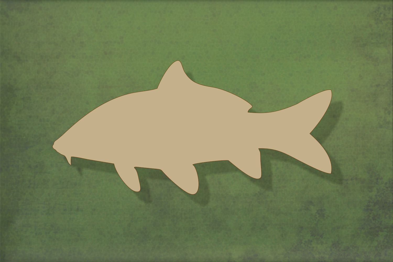 Laser cut, blank wooden Fish carp shape for craft