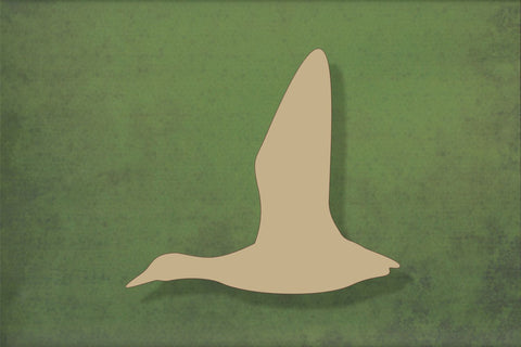 Laser cut, blank wooden Flying duck shape for craft