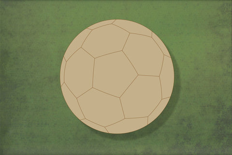Laser cut, blank wooden Football 1  shape for craft