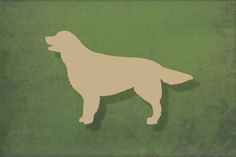 Laser cut, blank wooden Golden retriever shape for craft
