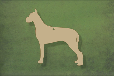 Laser cut, blank wooden great dane shape for craft
