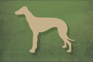 Laser cut, blank wooden greyhound shape for craft