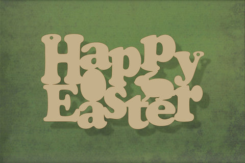 Laser cut, blank wooden Happy Easter 2 shape for craft