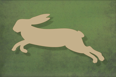 Laser cut, blank wooden Hare leaping shape for craft