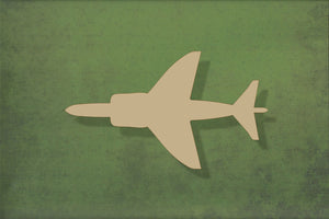 Laser cut, blank wooden Harrier jet plane shape for craft