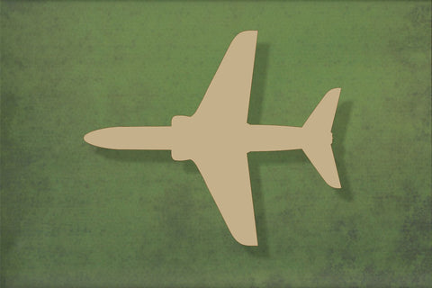 Laser cut, blank wooden Hawk jet plane shape for craft