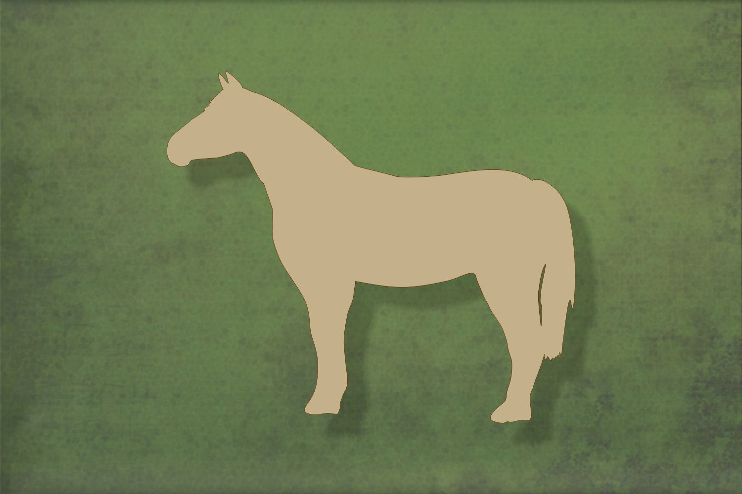 Laser cut, blank wooden Horse standing shape for craft