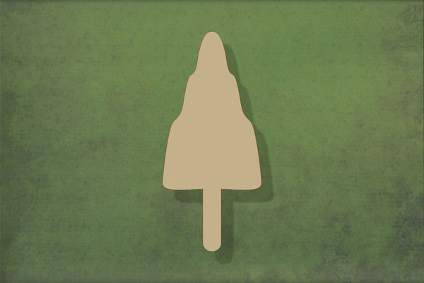 Laser cut, blank wooden Ice Lolly 2 rocket shape for craft