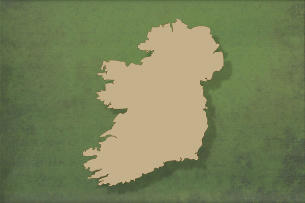 Laser cut, blank wooden Ireland map shape for craft