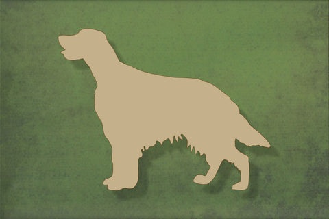 Laser cut, blank wooden Irish setter shape for craft