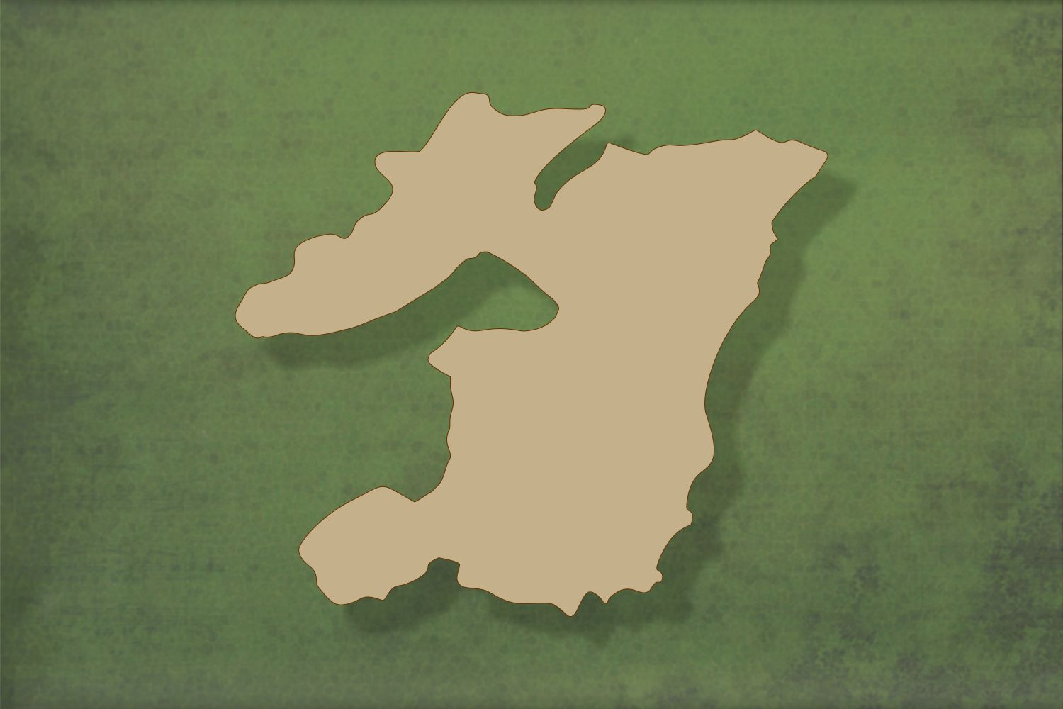 Laser cut, blank wooden Isle of Islay shape for craft