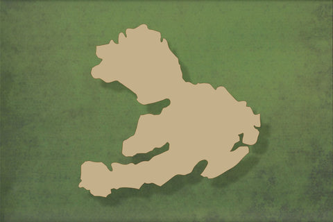 Laser cut, blank wooden Isle of Mull shape for craft