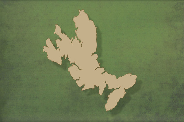 Laser cut, blank wooden Isle of Skye shape for craft