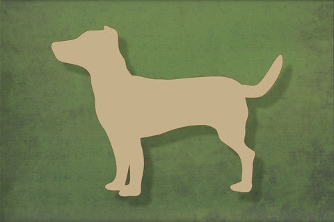 Laser cut, blank wooden Jack Russell shape for craft