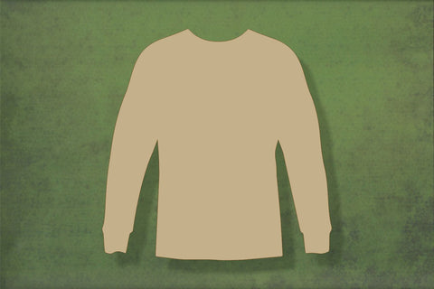 Laser cut, blank wooden Jumper 2 shape for craft