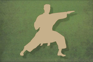 Laser cut, blank wooden Karate male shape for craft