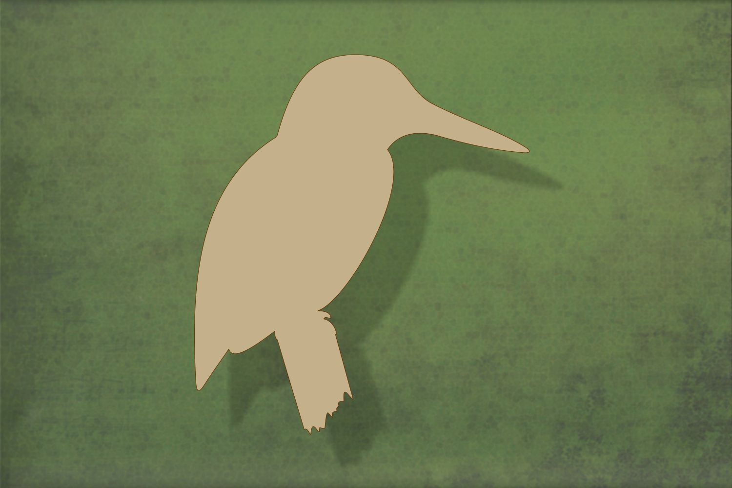 Laser cut, blank wooden Kingfisher on a branch shape for craft