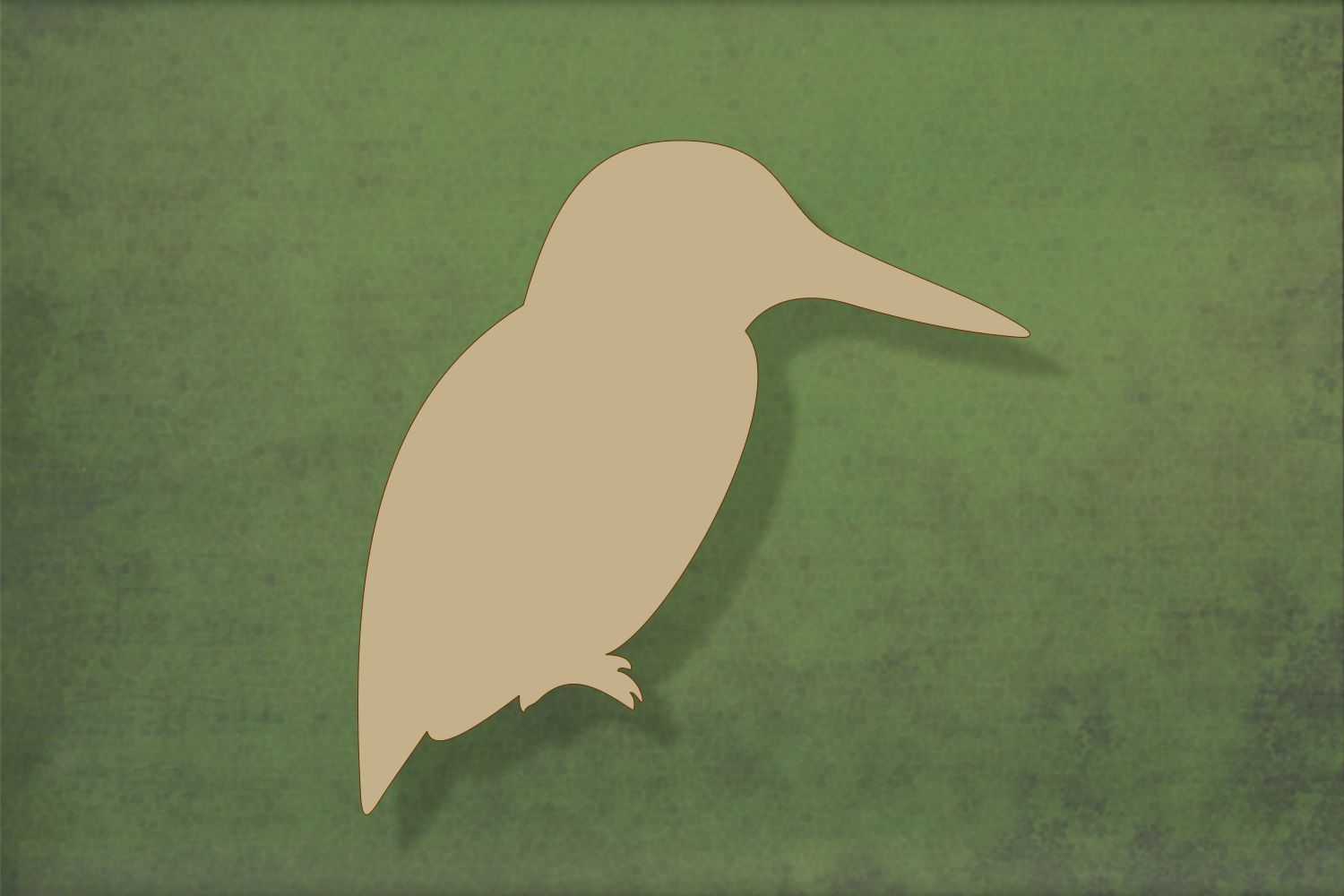 Laser cut, blank wooden Kingfisher shape for craft