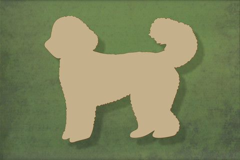 Laser cut, blank wooden Labradoodle shape for craft