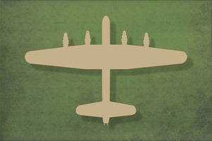 Laser cut, blank wooden Lancaster bomber shape for craft
