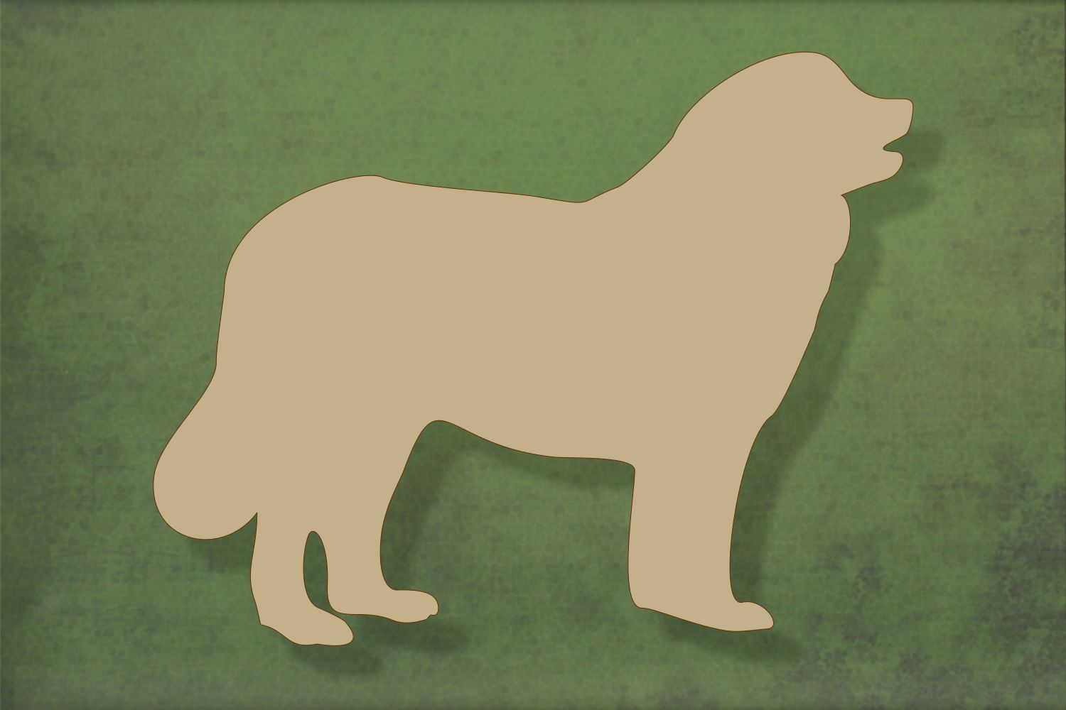 Laser cut, blank wooden Leonberger shape for craft