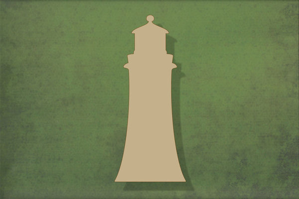 Laser cut, blank wooden Lighthouse shape for craft
