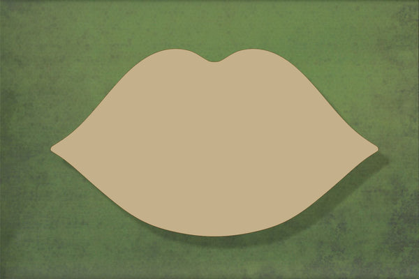 Laser cut, blank wooden Lips shape for craft