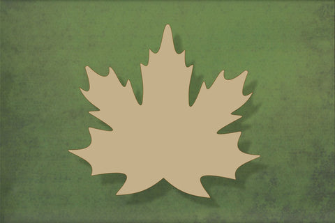 Laser cut, blank wooden Maple leaf shape for craft