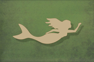 Laser cut, blank wooden Mermaid shape for craft