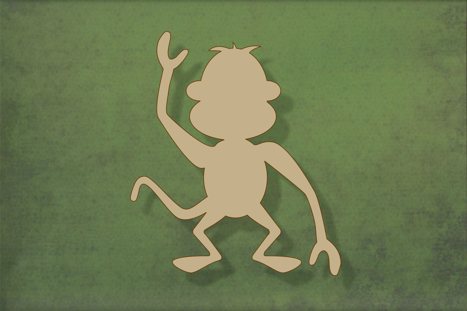 Laser cut, blank wooden Monkey shape for craft