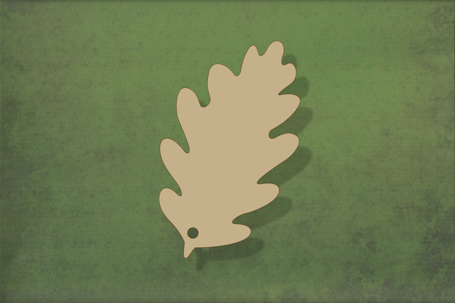 Laser cut, blank wooden Oak leaf shape for craft