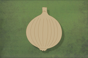 Laser cut, blank wooden Onion shape for craft