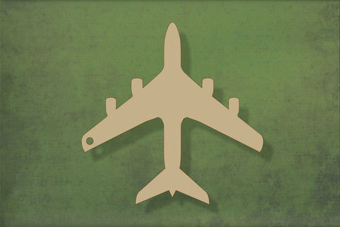 Laser cut, blank wooden Passenger plane shape for craft
