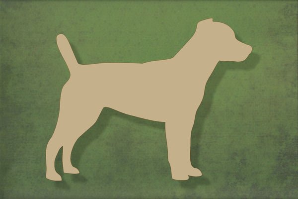 Laser cut, blank wooden Patterdale terrier shape for craft