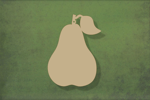 Laser cut, blank wooden Pear shape for craft