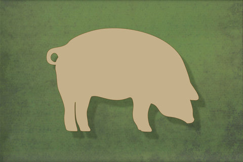 Laser cut, blank wooden Pig shape for craft