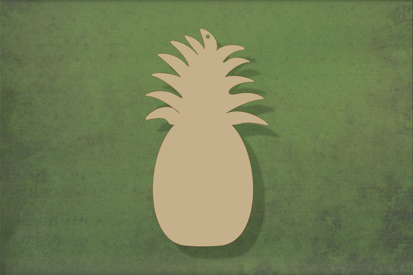 Laser cut, blank wooden Pineapple shape for craft