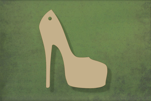 Laser cut, blank wooden Platform shoe shape for craft